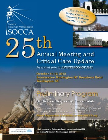 Annual Meeting and Critical Care Update - socca