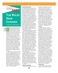 THE RULES HAVE CHANGED - Select Sires, Inc.