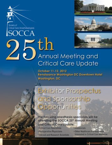 Exhibitor Prospectus and Sponsorship Opportunities - socca