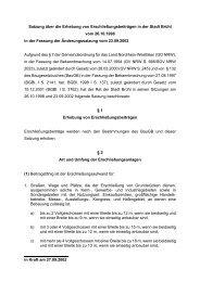 Satzung über die Erhebung von Erschließungsbeiträgen in der Stadt ...