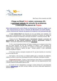 Chega ao Brasil livro sobre o processo A3 - Lean Institute Brasil