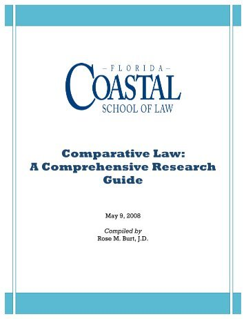 Comparative Law: A Comprehensive Research Guide