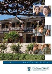 Year 10 Curriculum Book - 2011 - Loreto College