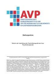 Stellungnahme - Verband Psychologischer Psychotherapeutinnen und