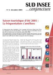 Bilan de la saison d'été 2005 hôtels campings PACA (pdf - 167 ko)