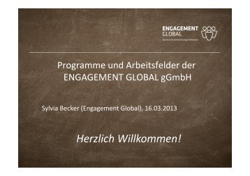 ENGAGEMENT GLOBAL - Eine Welt Netz NRW