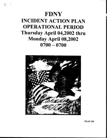 Incident Action Plan | Incident Action Plan Operational Period September 11 Digital Archive