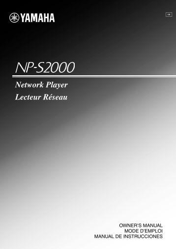 Network Player Lecteur Réseau - Yamaha Downloads