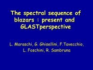 The spectral sequence of blazars : present and ... - DIAS