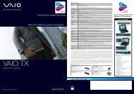 VGN-TX17GP/B - Sony Style