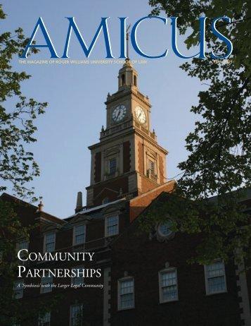 AMICUS Vol. 4, No. 2 (Fall 2005) - Roger Williams University School ...