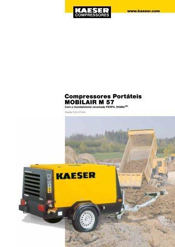 Compressores Portáteis MOBILAIR M 57 - Kaeser