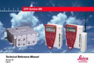 GPS500 Technical Reference Manual V4.0 - Leica Geosystems
