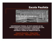 Arquitetos paulistas - Histeo.dec.ufms.br - Universidade Federal de ...