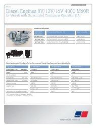 Diesel Engines 8V/12V/16V 4000 M60R - MTU Detroit Diesel Australia