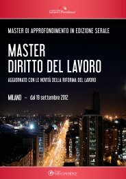 master di approfondimento in edizione serale - Centro Studi Lavoro ...