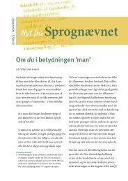 Nyt fra Sprognævnet 2008/3 - Dansk Sprognævn