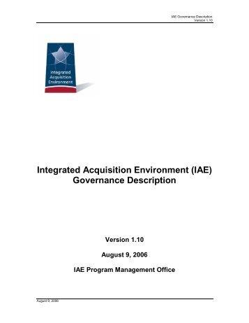 (IAE) Governance Description - Acquisition Central