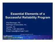 Essential Elements of a Successful Reliability Program