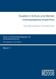 Qualität in Schule und Betrieb - Opus - Friedrich-Alexander ...