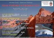 Cours d'initiation à l'alpinisme 2012 - Club Alpin Suisse - Section ...