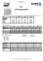 LH-25 gaisa pūtēji - Sanistal