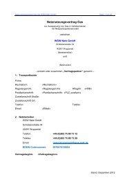 Netznutzungsvertrag Gas - WSW Netz-GmbH!
