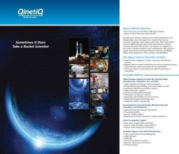 Commercial Space Services - QinetiQ North America