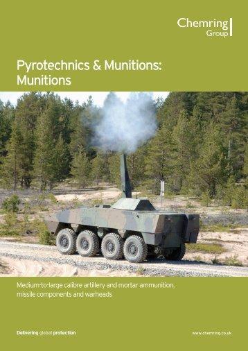 Pyrotechnics & Munitions: Munitions - Chemring Group PLC