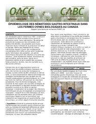 Épidémiologie des nématodes gastro-intestinaux dans les fermes ...