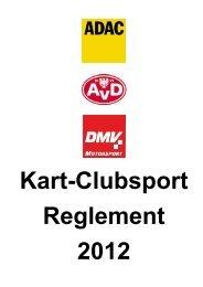 Kart-Clubsport-Reglement 2012 - ADAC Motorsport