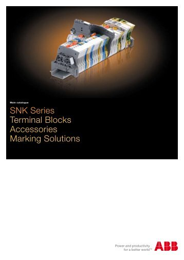 SNK Series Terminal Blocks Accessories Marking Solutions