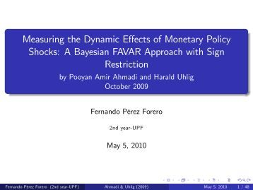 measuring the effects of monetary policay Measuring the macroeconomic impact of monetary policy at the zero lower bound effects of oil market shocks on us wang, measurement errors and monetary policy.