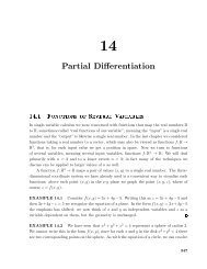 Partial Differentiation