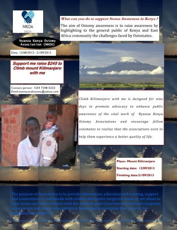 Support me raise $245 to Climb mount Kilimanjaro ... - Global Hand
