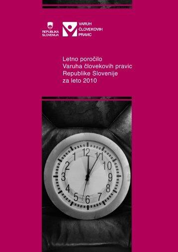 Letno poročilo Varuha človekovih pravic za leto 2010