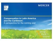 Compensation in Latin America and the Caribbean - Mercer ...