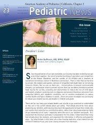 Spring 2013 - American Academy of Pediatrics, California - Chapter 2