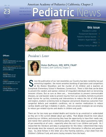 Spring 2013 - American Academy of Pediatrics, California - Chapter 2