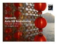 0 Mercer's Asia HR Roundtable 2010 - Mercer Signature Events