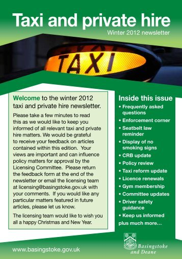 Winter 2012 Newsletter - Basingstoke and Deane Borough Council