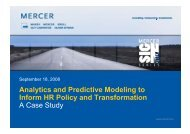 Analytics and Predictive Modeling to Inform HR Policy and ...