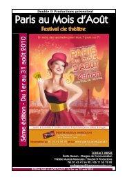 Festival Paris au mois d'août, cinquième édition, août 2010
