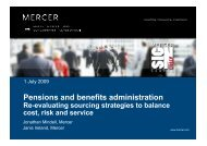 Pensions and benefits administration re-evaluating sourcing ...