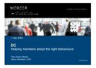 DC helping members adopt the right behaviours - Mercer Signature ...