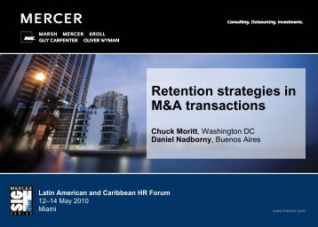 Retention strategies in M&A transactions (PDF) - Mercer Signature ...