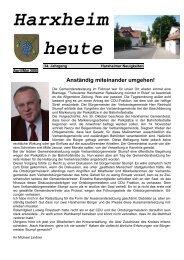 Harxheim heute - SPD Harxheim
