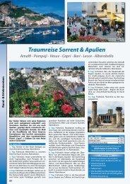 Traumreise Sorrent & Apulien Amalfi - Pompeji