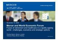 Mercer and World Economic Forum - Mercer Signature Events