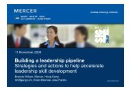 Building a leadership pipeline Strategies and actions to help ...